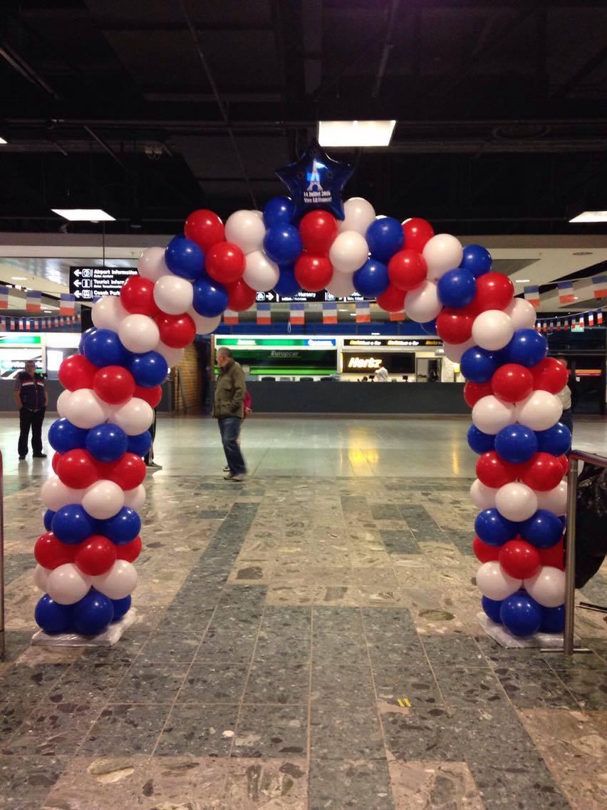 Balloon Arches Bastille Day